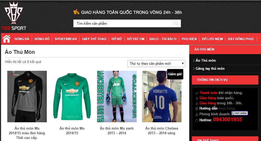 Quần áo thủ môn tại 789sport.com