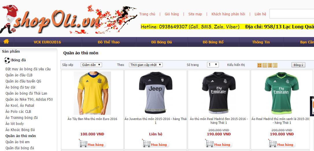 Quần áo thủ môn tại Shopoli.vn